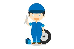 Mechanic vector illustration