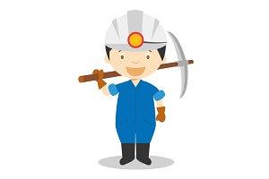 Miner vector illustration