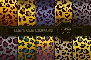 Shiny leopardskin digital paper