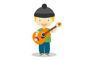 Musician vector illustration