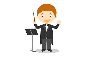 Orchestra Director illustration