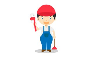 Plumber vector illustration