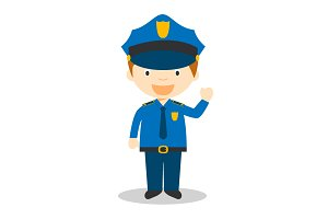 Policeman vector illustration