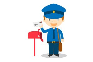 Postman vector illustration