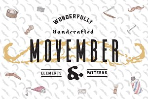 Movember Elements & Patterns