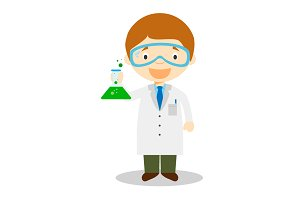 Scientist vector illustration