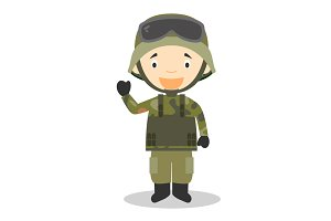Soldier vector illustration