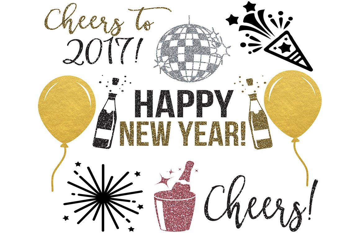 new years clipart png jpeg svg illustrations creative market
