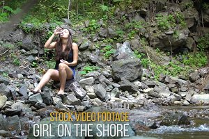 Girl on the Shore - Video Footage