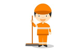 Sweeper vector illustration