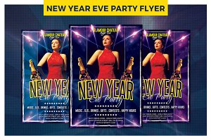 Exclusive New Year Eve Party Flyer