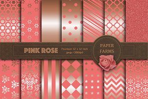Pink rose digital paper