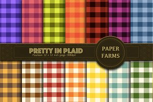Plaid digital paper