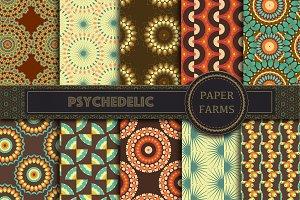 Psychedelic digital paper