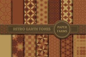 Retro earth tones digital paper