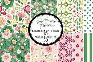 Wildflowers Seamless Patterns