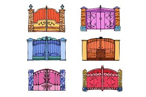 Fences and Gates Illustration