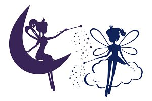 Set of Fairy Silhouette