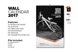 Wall Calendar Template 2017 V6