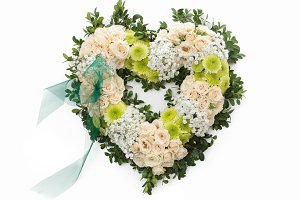 Elegant heart shaped wreath