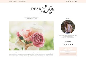 Pink Blogger Template - Lily