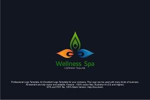 Wellness Yoga Logo Design Template