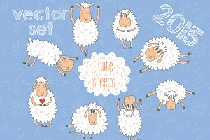 Cute sheeps (2015 symbol )