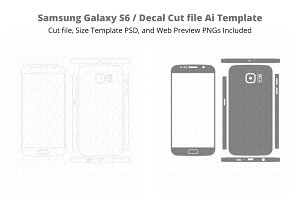 Samsung Galaxy S6 /Decal Cut File Ai