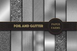 Silver foil digital paper