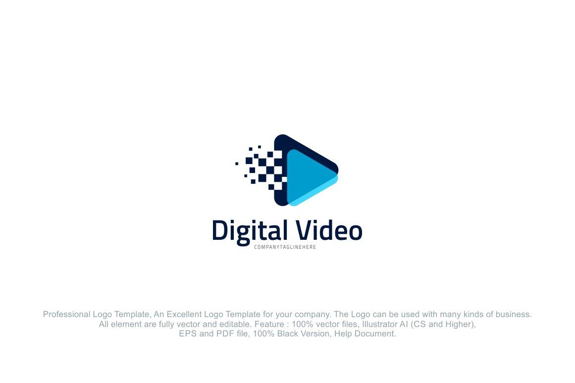 Digital Video Pixel Logo Template ~ Logo Templates