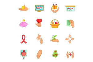 Charity organization icons