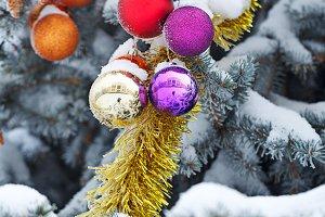 Balls and tinsel Christmas