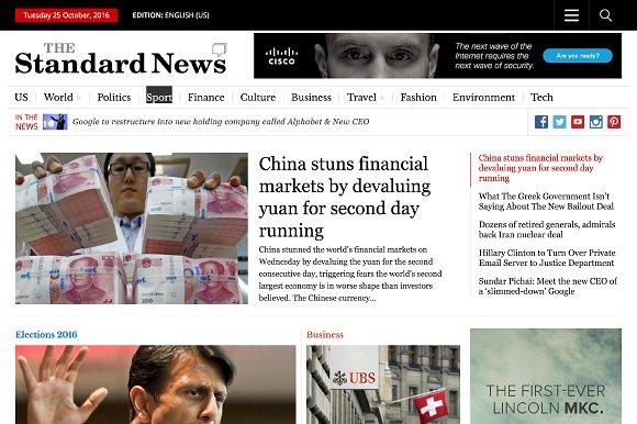 StandardNews - Newspaper WP Theme