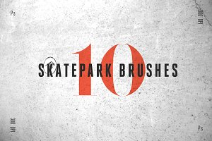 10 Skatepark Photoshop Brushes