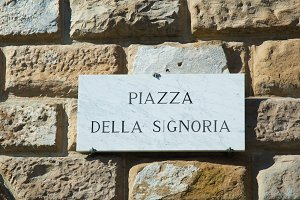 Street sign in Florence Italy