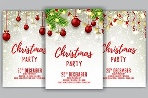 Beautiful Christmas party flyer
