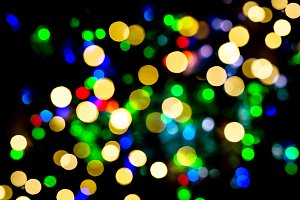 Defocused lights Holidays background