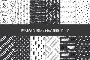 Hand Drawn Pen & Ink Patterns