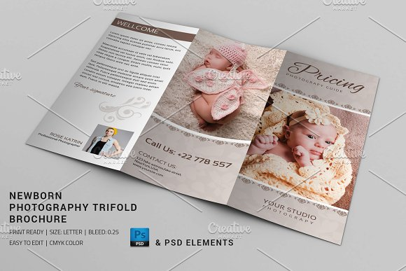 Newborn photography brochure v612 brochure templates on for Photography brochure templates