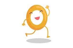Donut Running Away
