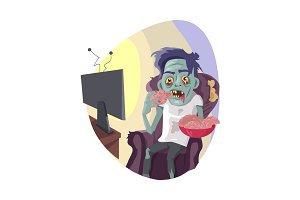 Zombie Watching TV