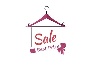 Sale Banner Fashionable Clothes