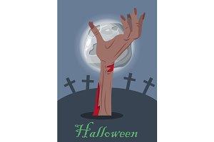 Zombie Hand on Grave