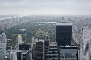 Central park on a cloudy day