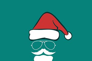 Santa hats and beards and eyeglasse.