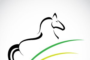 Vector image of an horse.