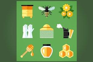 Beekeeping icons