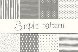 Simple doodle seamless pattern