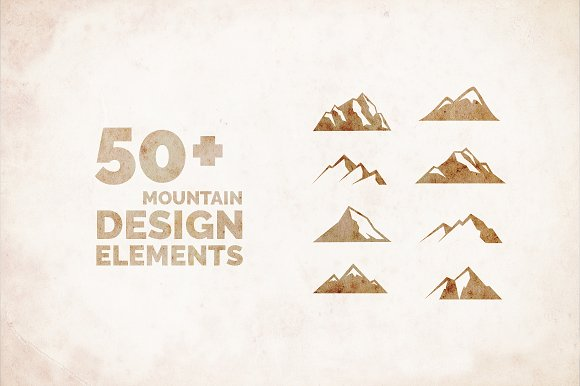 50 mountain icon graphics illustrations creative market