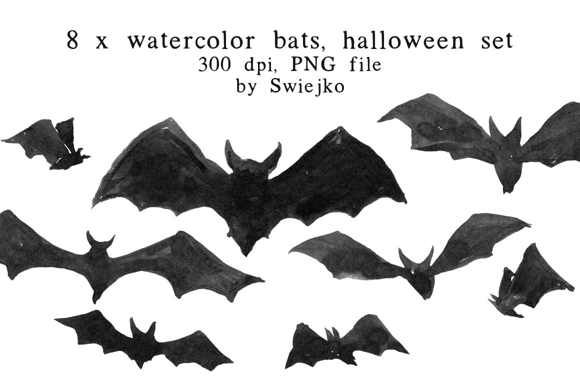 Halloween Clip Art, Bats ~ Illustrations ~ Creative Market